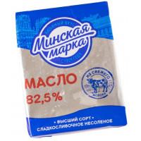 Масло Минская марка сладкосливочное несоленое 82,5% 180г
