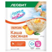 Каша Леовит Худеем за неделю овсяная персик на фруктозе 40г