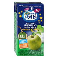 Биолакт Фруто-няня кисломолочный зеленое яблоко 2,9% 200мл
