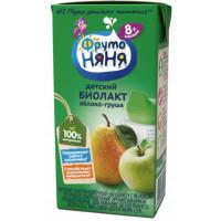 Биолакт Фруто-няня кисломолочный яблоко-груша 2,9% 200мл