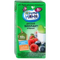 Биолакт Фруто-няня кисломолочный лесные ягоды 2,9% 200мл