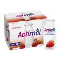 Напиток кисломолочный Актимель клубника жир.2,5% 100г