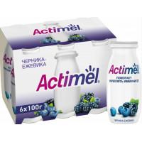 Напиток кисломолочный Актимель черника+ежевика 100г