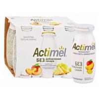 Продукт кисломолочный Актимель виноград-персик-ананас 2,2% 95г