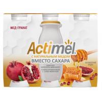 Напиток кисломолочный Актимель мед-гранат жир.2,2% 95г