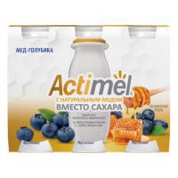 Напиток кисломолочный Актимель мед-голубика жир.2,2% 95г