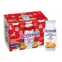 Продукт кисломолочный Актимель апельсин-мандарин-имбирь 2,5% 100г
