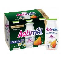Продукт кисломолочный Актимель груша-алтайские травы 2,5% 100г