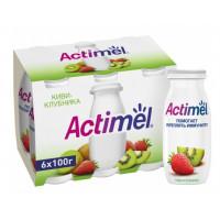 Напиток кисломолочный Актимель киви-клубника жир.1,5% 100г