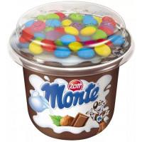 Десерт Цотт Монте с шоколадом и фундуком+шоколадное драже 70г