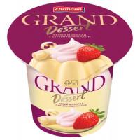 Пудинг Эрманн Гранд Десерт Белый шоколад с клубничными сливками 6.0% 200г