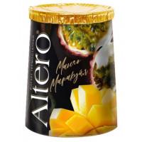 Биойогурт Алтеро термостатный двуслойный с манго и маракуйей 2% 150г