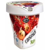 Биойогурт Слобода с клетчаткой, с гранатом, красным виноградом и семенами чиа 2% 235г питьевой