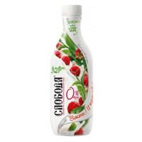 Био-йогурт Слобода питьевой малина жир.0% 690г