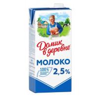 Молоко Домик в деревне стерилизованное жир.2,5% 950г