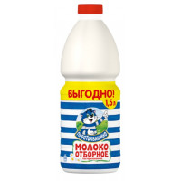 Молоко Простоквашино пастеризованное отборное 3,4-4,5% 1500мл