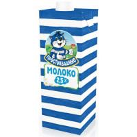 Молоко Простоквашино ультрапастеризованное жир.2,5% 950мл