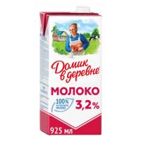 Молоко Домик в деревне стерилизованное жир.3,2% 950г