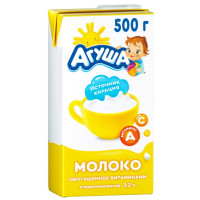 Молоко Агуша стерилизованное 3,2% 500мл