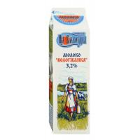 Молоко Вологжанка пастеризованное жир.3,2% 1000г