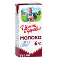 Молоко Домик в деревне стерилизованное жир.6% 950г