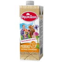 Молоко Вкуснотеево ультрапастеризованное 3,2% 950г