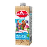 Молоко Вкуснотеево ультрапастеризованное 1,5% 950г