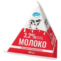 Молоко Станичное ультрапастеризованное 3,2% 0,2л