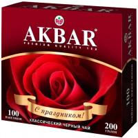 Чай Акбар классическая серия черный 100пак 200г