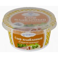 Сыр Славмо плавленый из творога со вкусом ветчины 140г