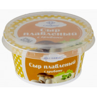 Сыр Славмо плавленый из творога с грибами 140г