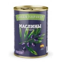 Маслины Грин Харвест черные без косточки 300г ж/б
