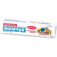 Паста зубная Новый жемчуг Детский Волшебные фрукты 50мл