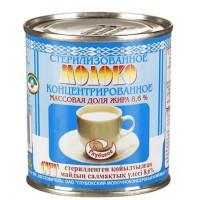 Молоко Глубокский МК концентрированное цельное стерилизованное 8,6% 300г