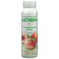 Био-йогурт Активиа питьевой обогащенный яблоко-персик 2,0% 260г бут