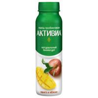 Био-йогурт Активиа питьевой обогащенный манго-яблоко 2,0% 260г бут