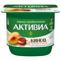 Био-йогурт Активиа густой персик-личи-киноа 2,9% 150г