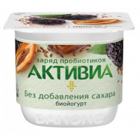 Биойогурт Активиа густой чернослив-финики-лен .2,9% 150г