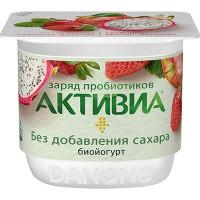 Биойогурт Активиа густой клубника-яблоко-питахайя 2,9% 150г
