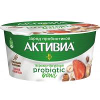 Биопродукт Активиа йогуртно-творожный клубника микс орехов 3,5% 135г