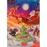 Шоколад Барон молочный новогодний календарь 75г
