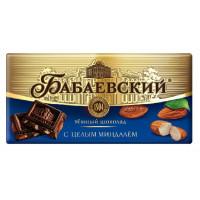 Шоколад Бабаевский темный с целым миндалем 200г