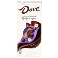 Шоколад Дав молочный с фундуком и изюмом 90г