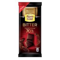 Шоколад Альпен Гольд горький 70% 85г