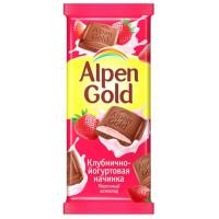 Шоколад Альпен Гольд молочный клубника с йогуртом 85г