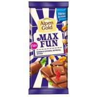 Шоколад Альпен Гольд МаксФан молочный с мармеладом 150г