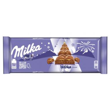 Шоколад Милка баблс карамель 250г