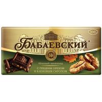Шоколад Бабаевский темный с грецким орехом и кленовым сиропом 100г