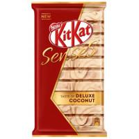 Шоколад Кит Кат белый со вкусом кокоса и молочный со вкусом миндаля с хрустящей вафлей 112г