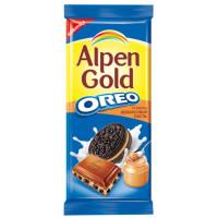 Шоколад Альпен гольд молочный орео со вкусом арахисовой пасты 95г